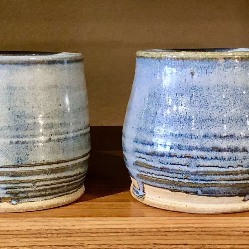 Mugs Local Artist, Blue,  Pair