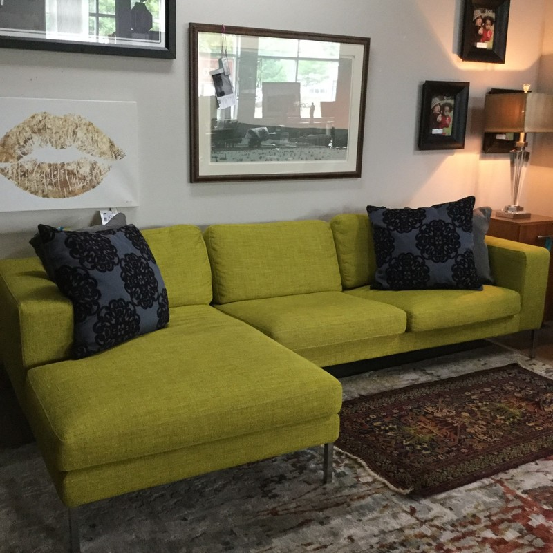 "Design Within Reach Custom Sectional, Chartreuse, Size: 106""X59""X31"""