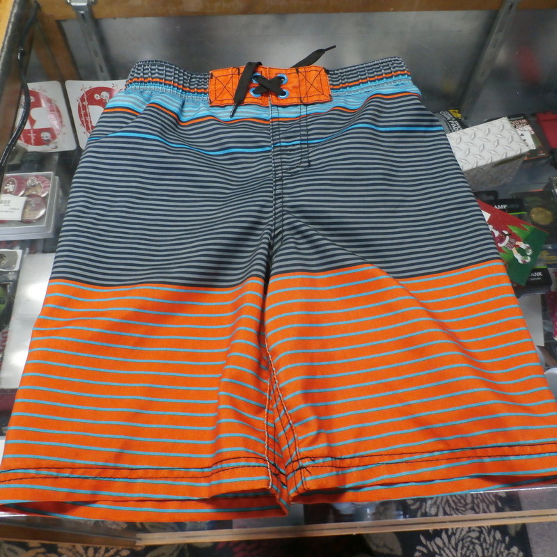 20d9fe79f6 Cherokee YOUTH swim shorts with built-in underwear orange size S 6/7 #