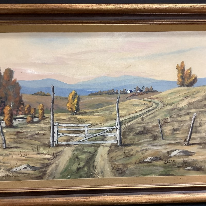 Farm Landscape<br /> 43 x 31<br /> Nicely matted and framed
