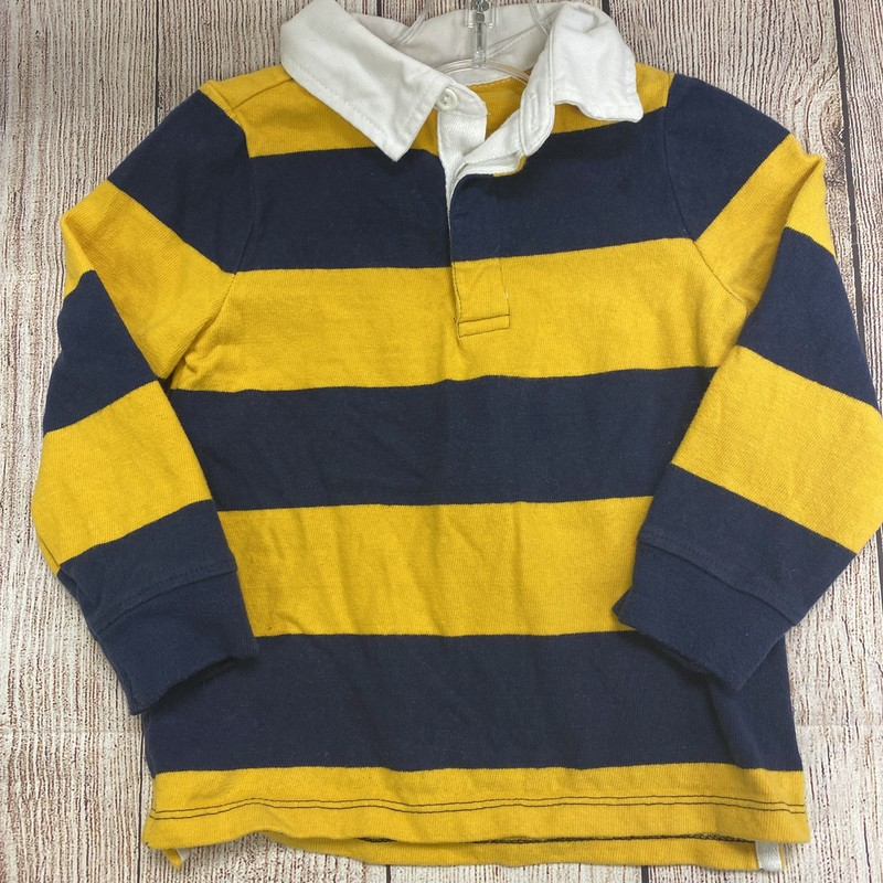 Old Navy LS Polo, Stripe, Size: 2T - B