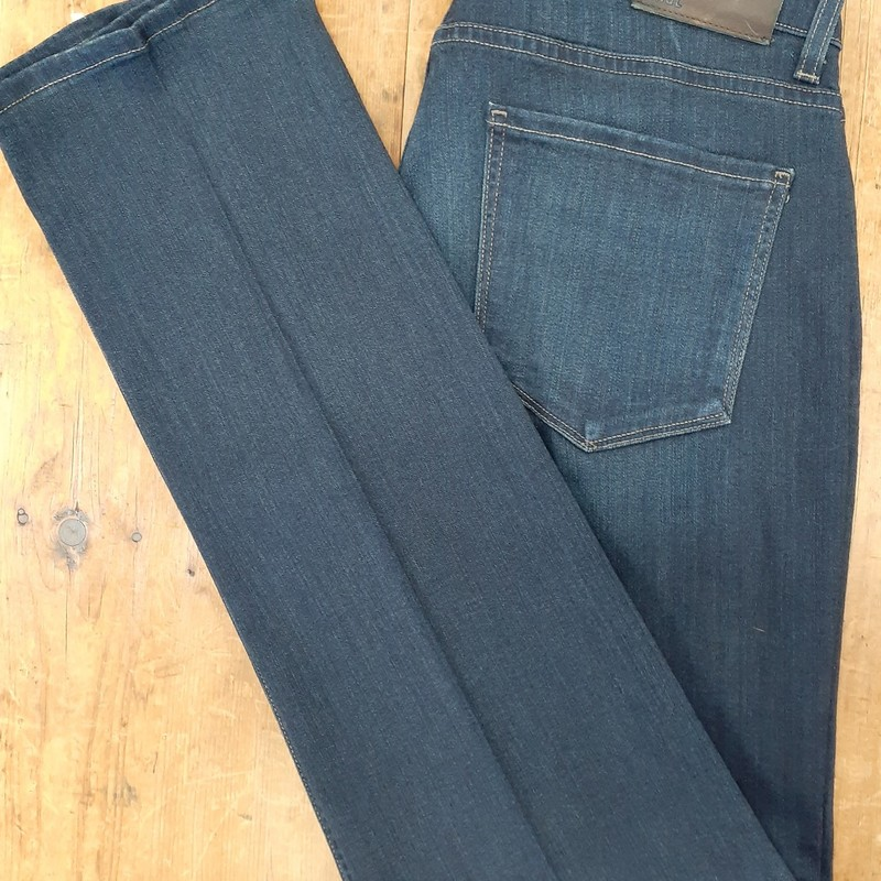 P A I G E<br /> Color: Dark Wahs Denim<br /> Size: 32W 34L<br /> Condition: Excellent