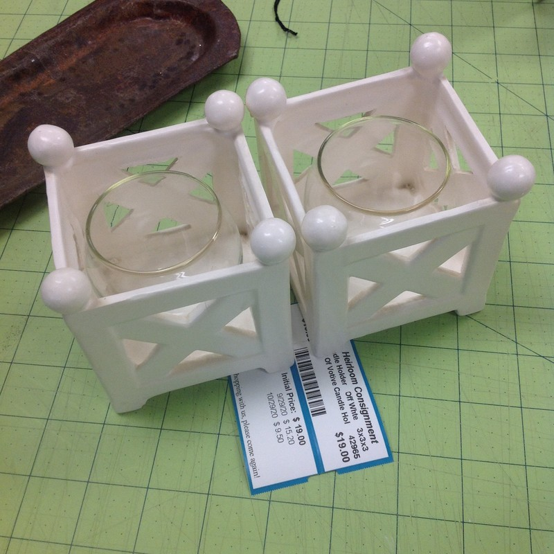 Pair Of Votive Candle Hol.