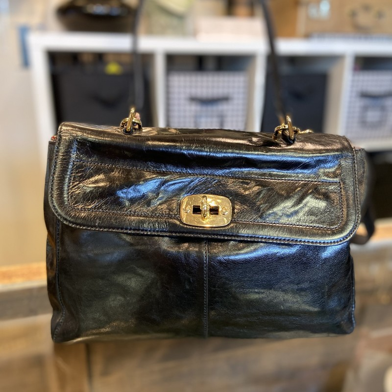 NWT Blk Leather Purse.
