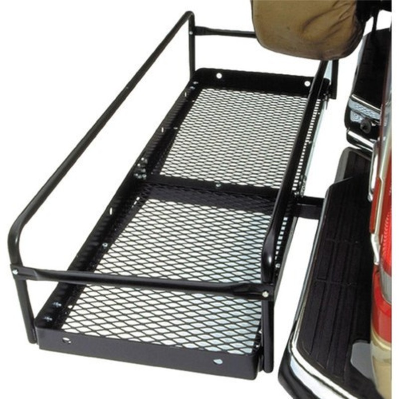 "Side Rail Extension Kit, Fits Hitch Haul Carriers<br /> This kit increases the versatility of your cargo carrier by allowing you to securely carry larger, bulkier items.<br /> Hitch-Haul Side Rail Extension Kit:<br /> 12"" side rail kit<br /> Mounts to all 19.25"" x 60"" rails<br /> <br /> NEW In Box<br /> <br /> NO SHIPPING"