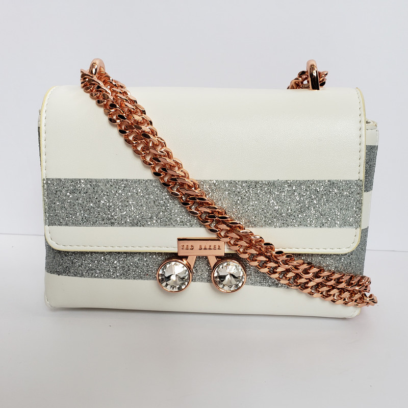 Ted Bake<br /> Gray and White with Rose Gold Chain<br /> 2 options for chain length