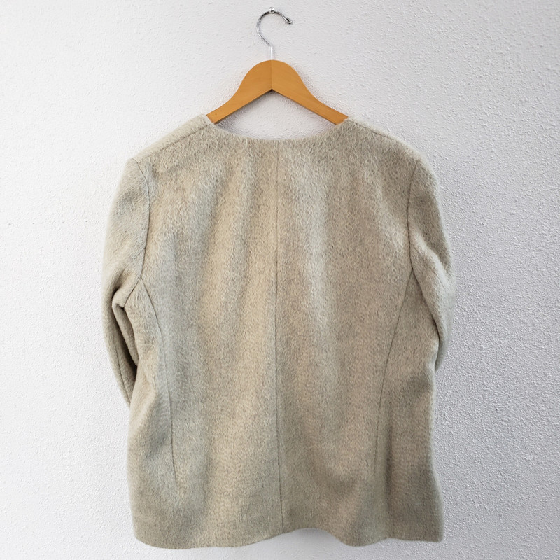 COS<br /> Open Front Jacket<br /> Mohair and Wool<br /> Size 12