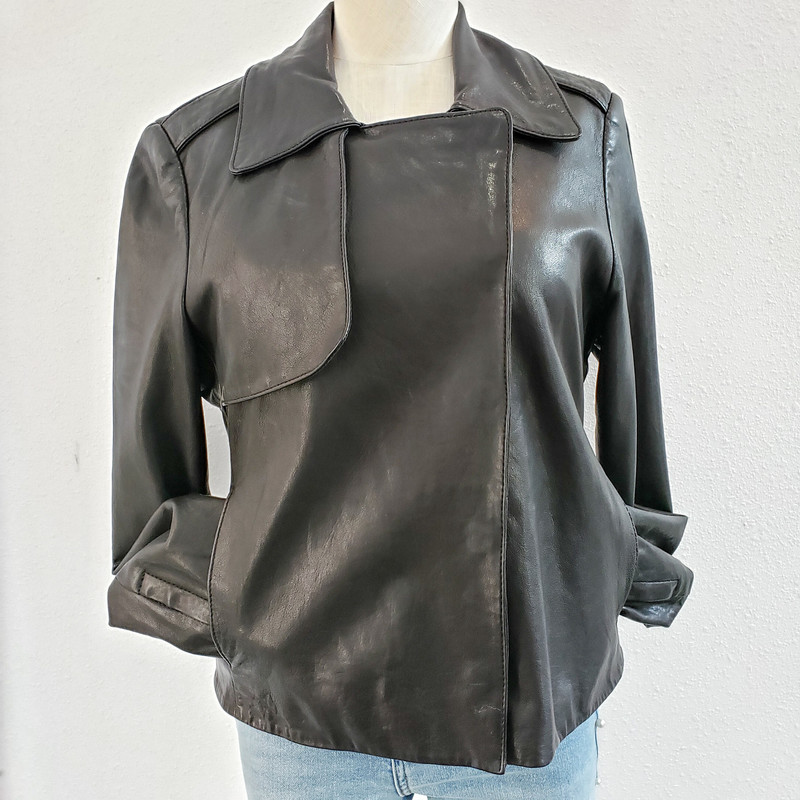 Club Monaco<br /> Black Leather Jacket<br /> Size Medium