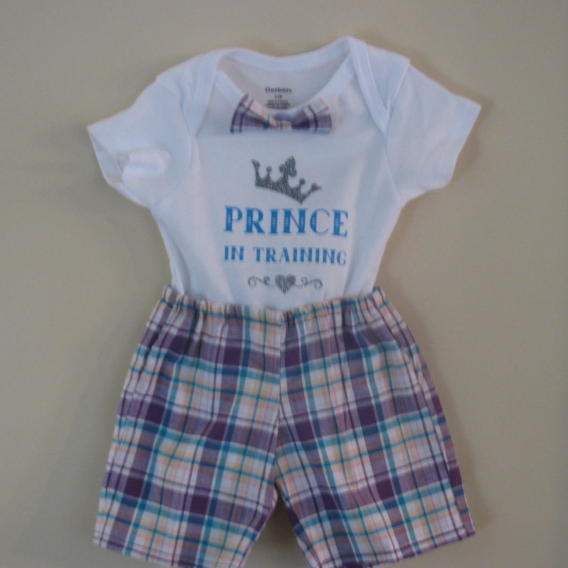 This adorable outfit is both dress attire and photo worthy. Dress your little one in the set for a big day and he will be the hit of any affair and comfortable.