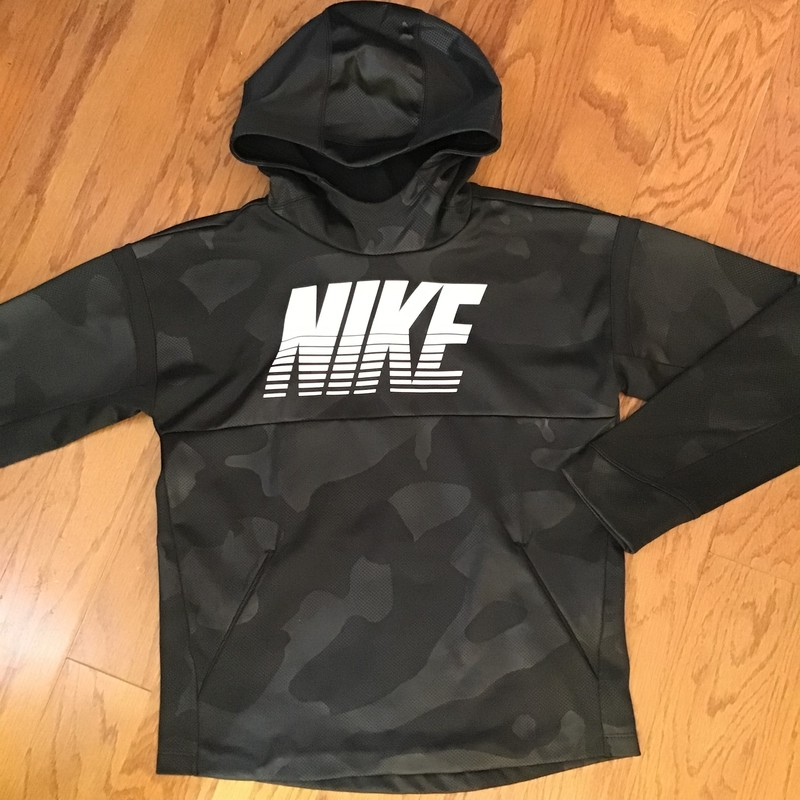 Nike Pullover, Black, Size: Large<br /> <br /> <br /> minor small nick towards hem<br /> <br /> <br /> ALL SALES ARE FINAL. NO RETURNS OR EXCHANGES. PLEASE ALLOW 1 WEEK FOR SHIPMENT