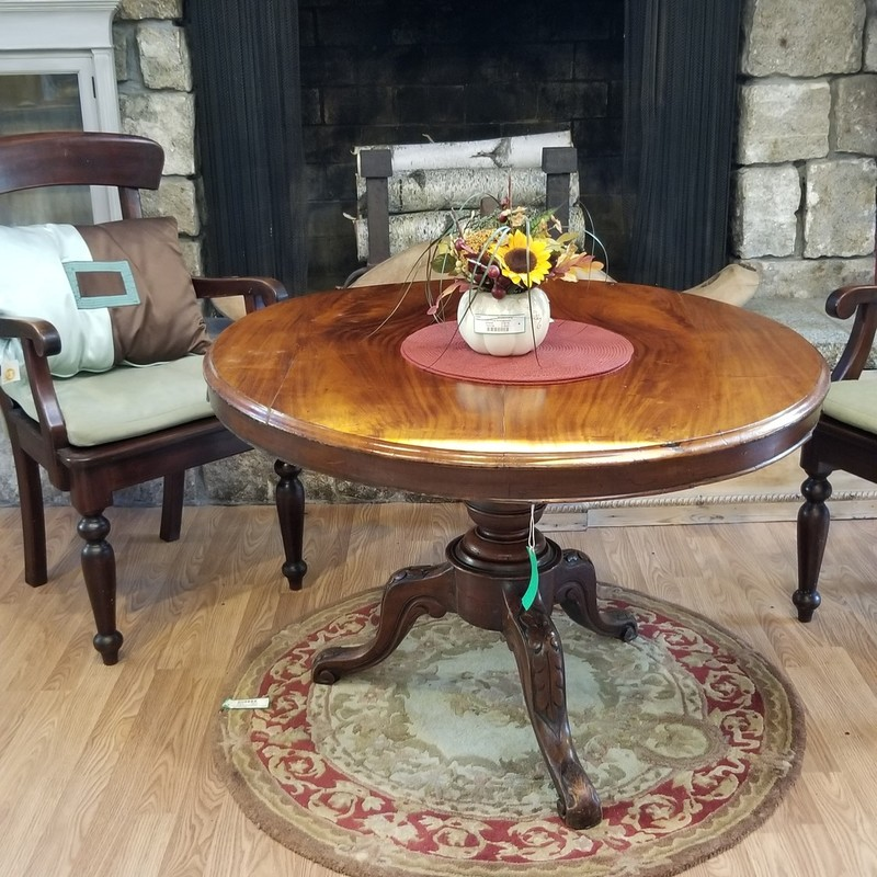 "Round Flip Top Dining Table,  Size: 40"" Diameter"