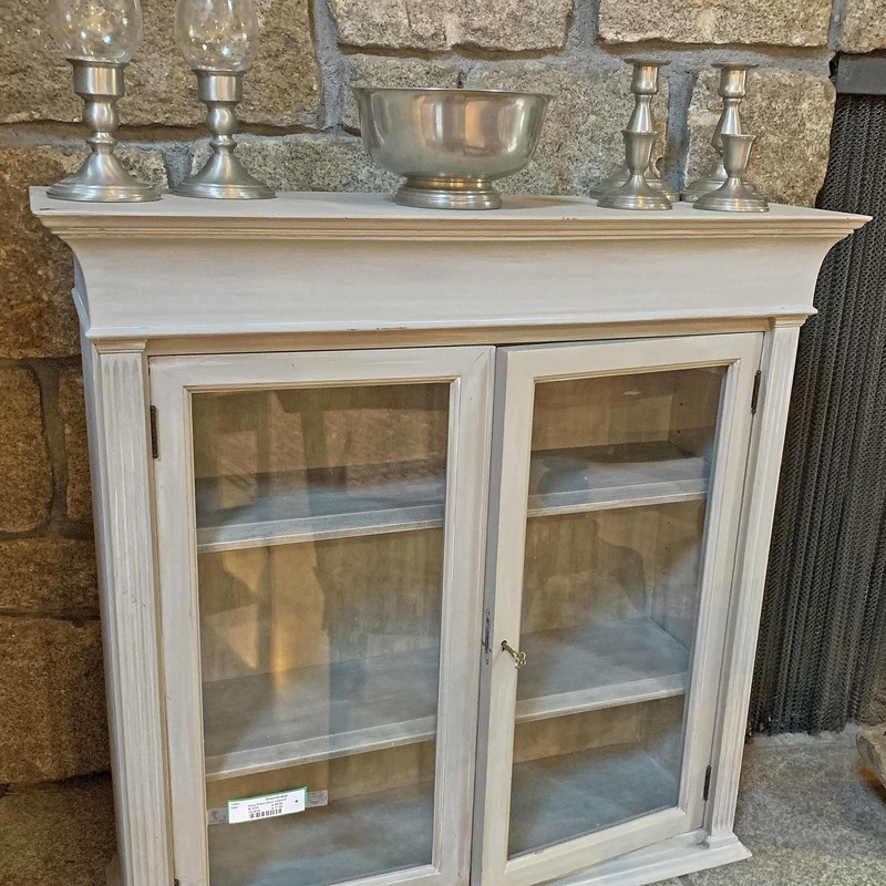 Gray Glass Door Cabinet,