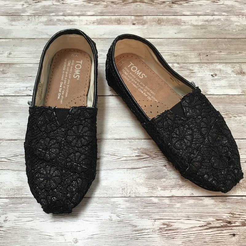 Toms Sparkles, Black, Size: Shoes 12