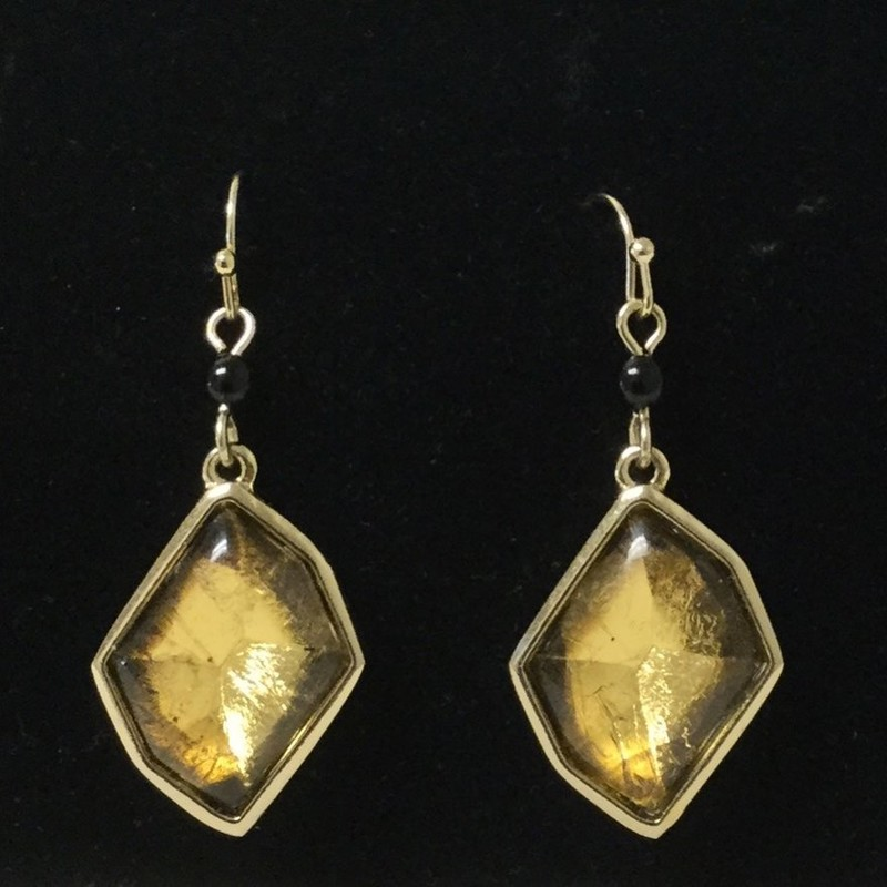 Chicos Crystal Earring<br /> Gold/Black<br /> $9.50