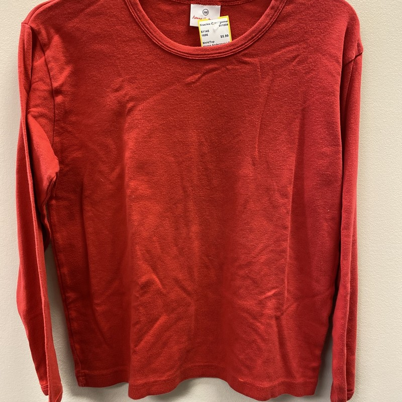 Hanna Andersson LS, Red, Size: 14/16 B