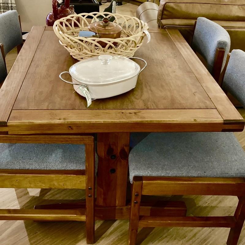 Rustic Table Dining & 4 Chairs
