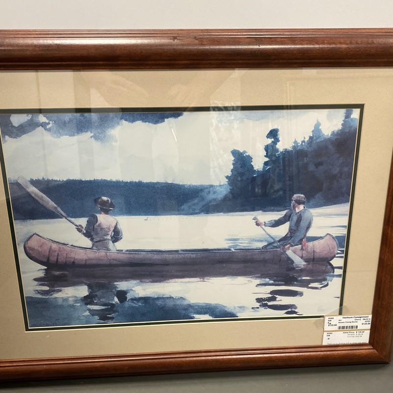 Winslow Homer-Young Ducks Print, Cherry, Size: 29x22 Inch
