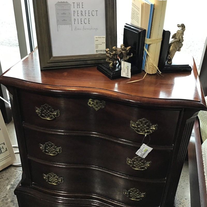 "Gorgeous King Bedroom Set by Bassett.  Set includes the 4 Poster King Headboard/Footboard/Siderails and Slats, 9-Drawer Dresser w/Mirror, 3-Drawer Nightstand and a 4 over 2 Chest on Chest of   Made by Bassett who makes quality furniture, this set will look amazing in you bedroom!<br /> <br /> Dimensions:<br /> 4 Poster Bed Set:  78""W x 86""D x 66""H<br /> 9 Drawer Dresser:  70""W x 20""D x 33""H<br /> Mirror:  50""W x 52""H<br /> 3 Drawer Nightstand:  26""W x 16""D x 25.5""H<br /> Chest on Chest:  40""W x 19""D x 60""H"