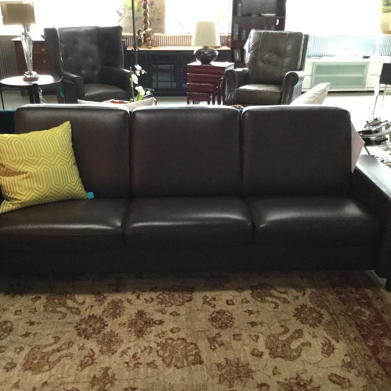 Stressless Recline Leather Sofa, Brown, Size: 90""