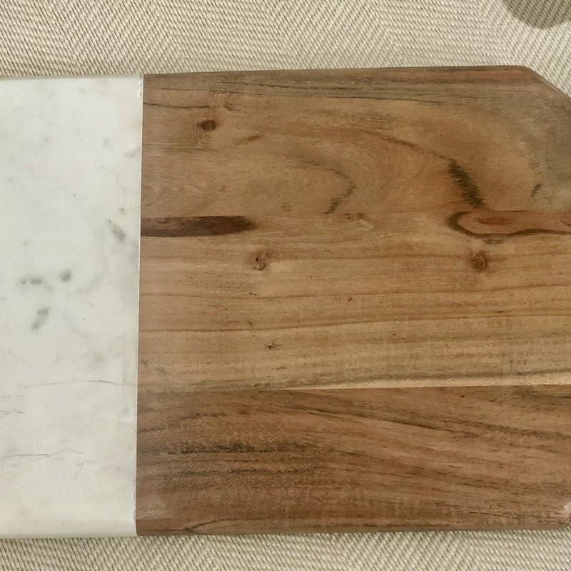 Cutting Board, Wood & Marble, Size: 17x9