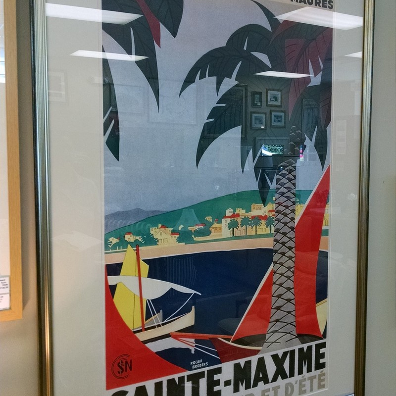 Ste Maxime Travel Poster 36x32