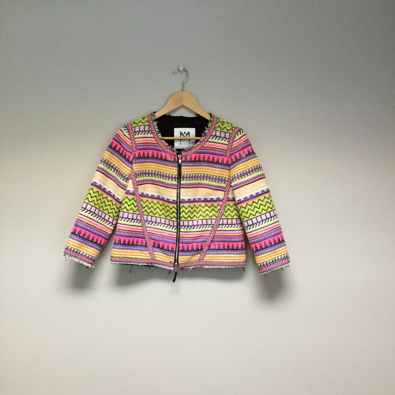 Milly Tribal Jacket<br /> Size 6<br /> Black/Neon Multi<br /> $84.00