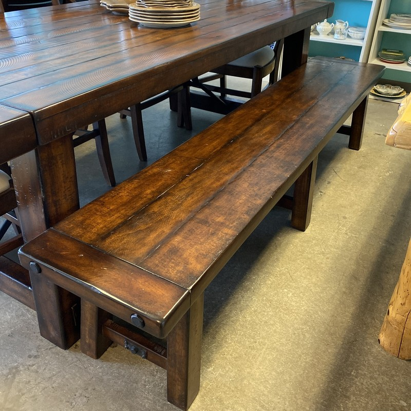 "PB Benchwright Bench, Rustic Wood, Size: 86""x16"""