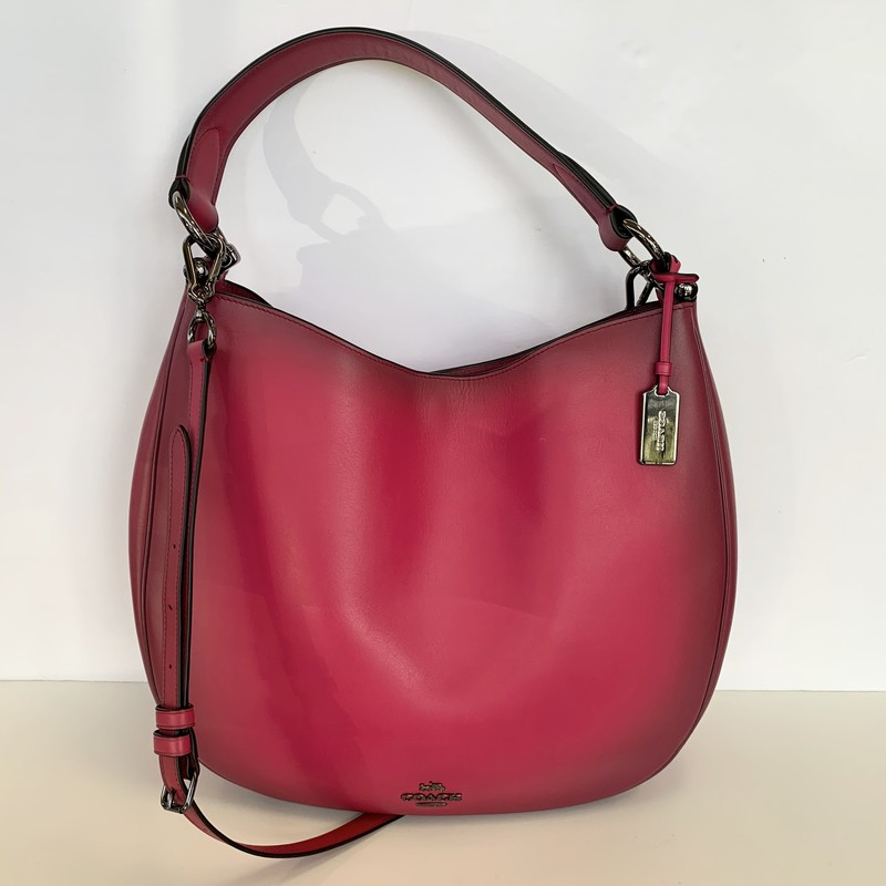 COACH Nomad Shoulder Bag<br /> Convertible to Shoulder/Crossbody<br /> Color: Pink