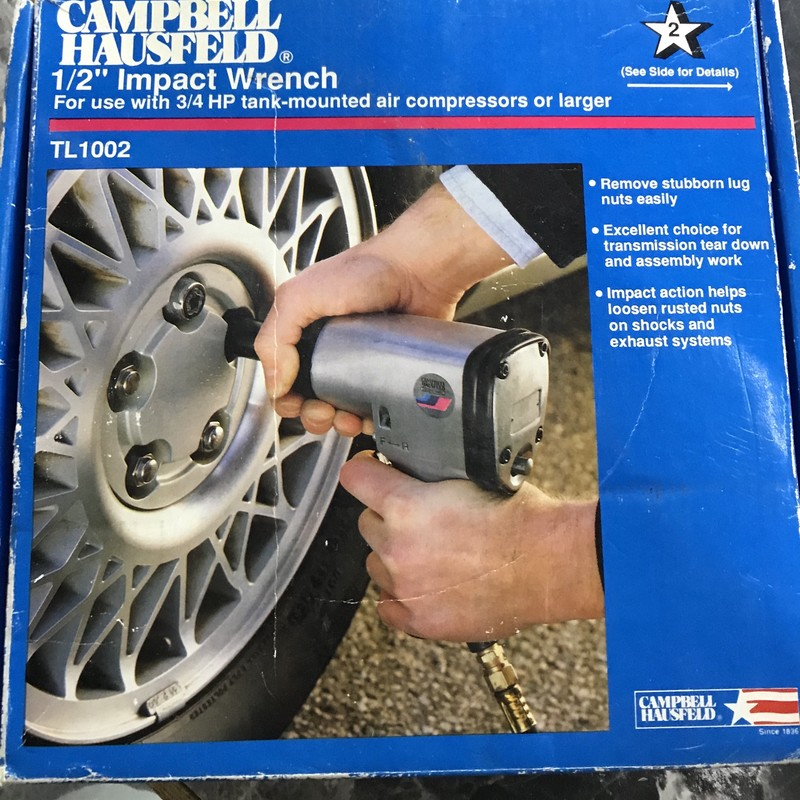 "Impact Wrench, Campbell Hausfeld, Size: 1/2""<br /> TL 1002 New In box"