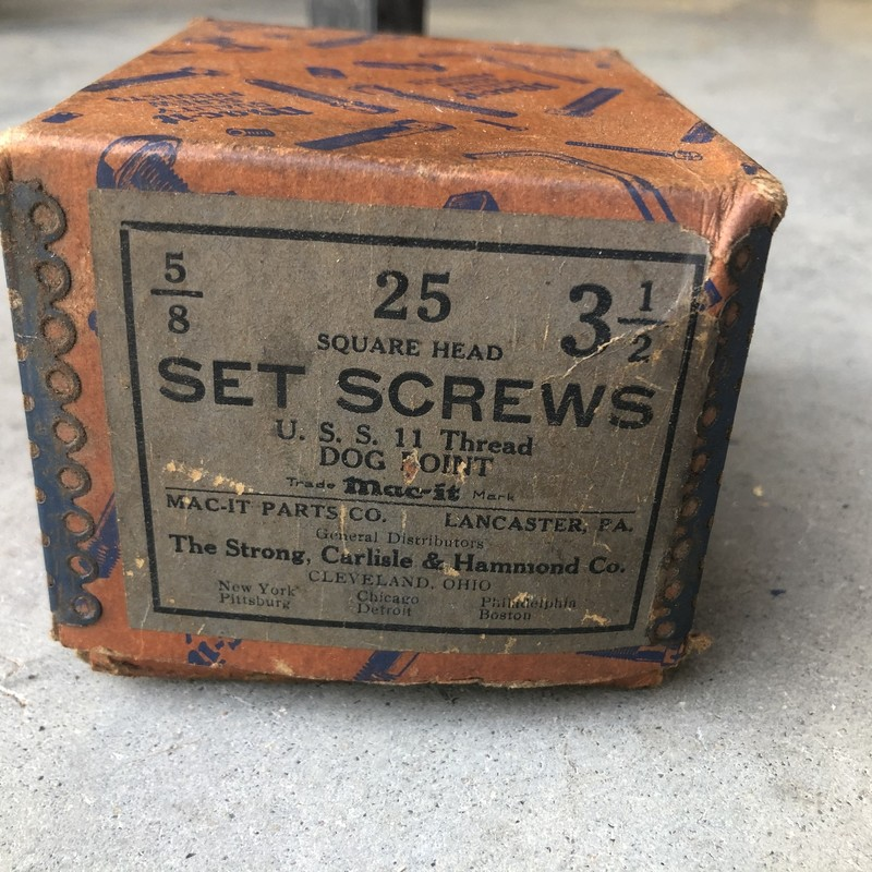 Square Head Set Screws.