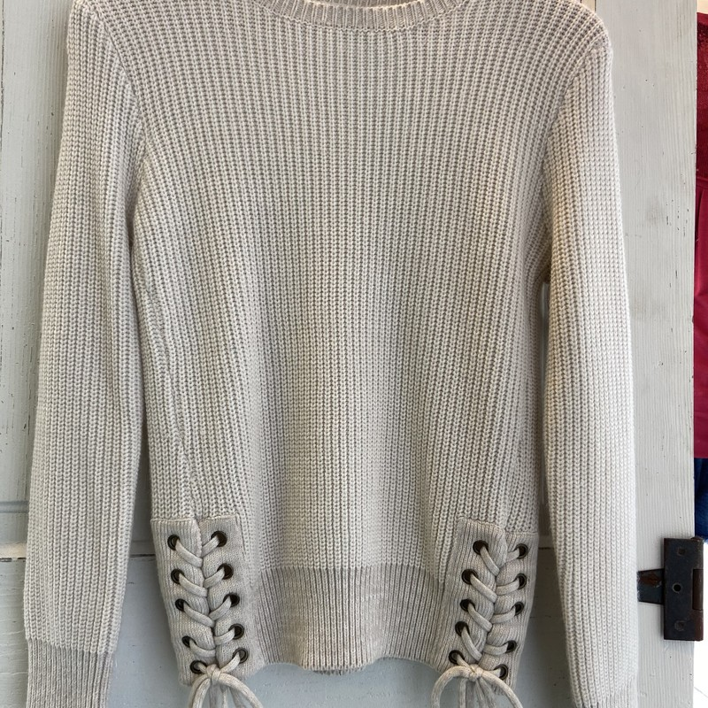 Crm Lace Up Tie Sweater.