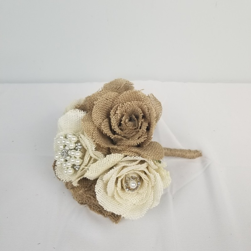 Burlap Rose Bouquet.