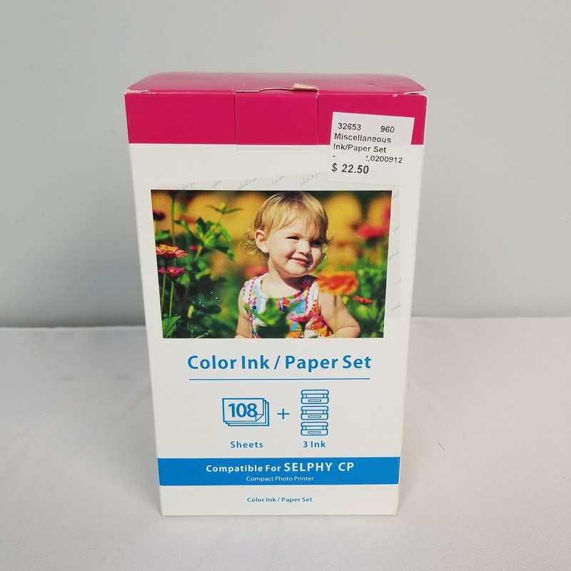 Ink/Paper Set, Size: Full<br /> <br /> 2 More Full Boxes and 1 Partial Box Avaliable In Store.<br /> <br /> Use with Canon Selphy Printer! Also Available for Online Purchase (Item #32652)