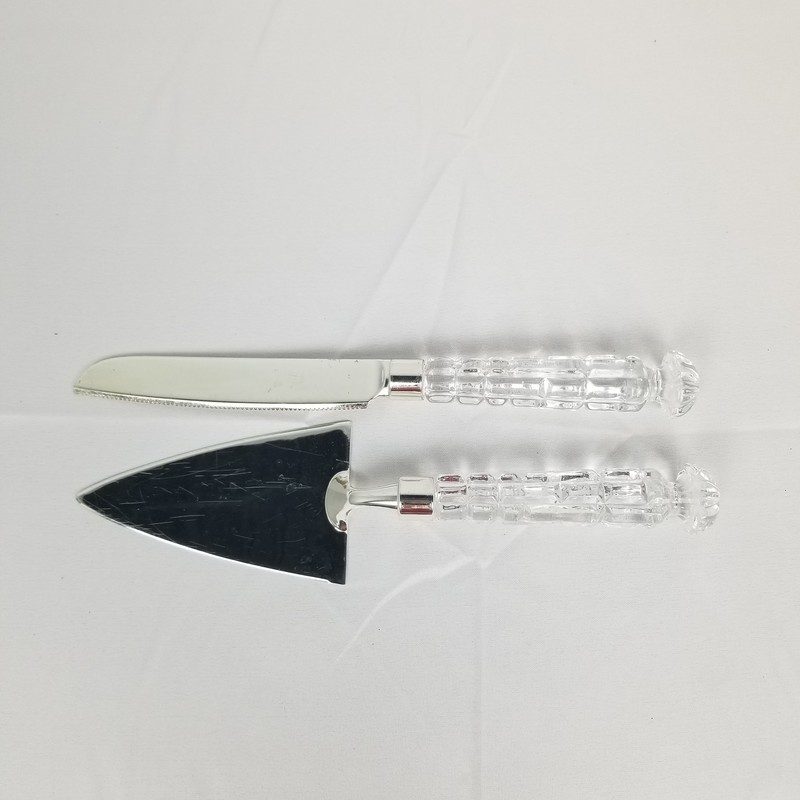 Glass Serving Set, Clear, Size: 2 Pc