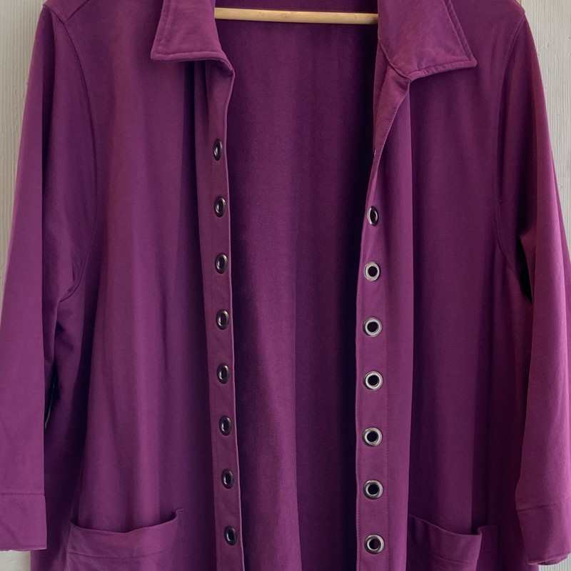 Purple Grommet Jacket.