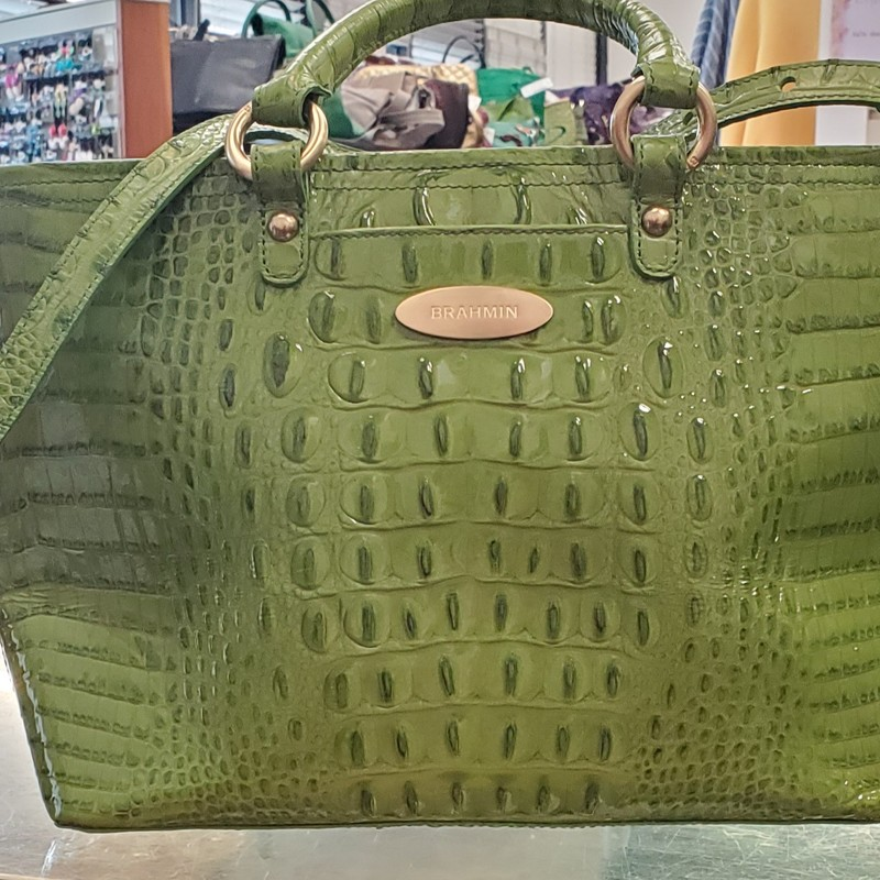 Brahmin Asher, Green, Size: NA<br /> Excellent Condition