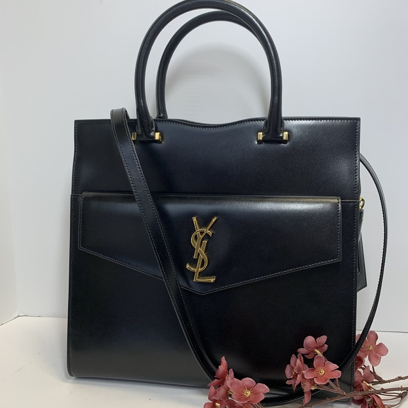 Saint Laurent Black Uptown East - West Satchel Bag