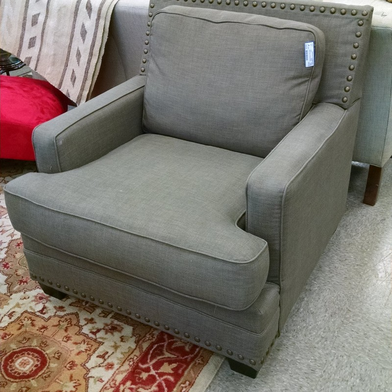 Club Chair W/Nailheads