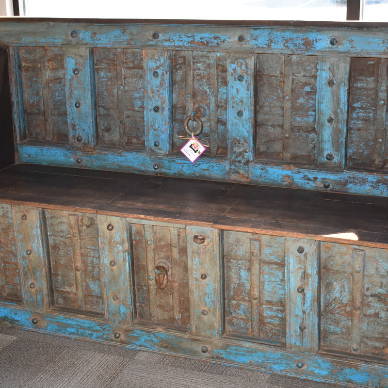 Rustic Painted Bench.
