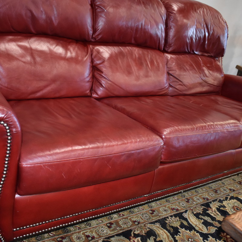 Leather Sofa.