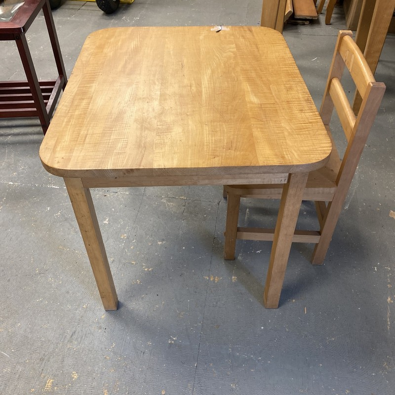 Child Table With Chair.