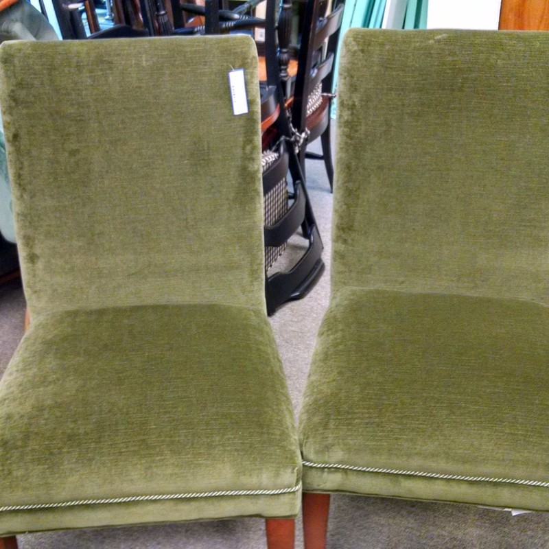 2 Velvet Parsons Chairs