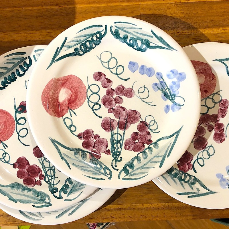 Rosanna Appetizer Plates,  Set Of 5