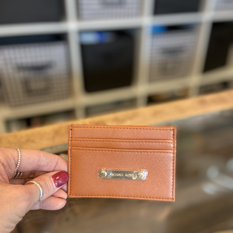 NWT Cognac Card Holder.