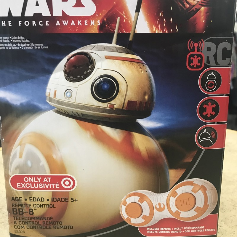 Star Wars BB-8 R/C Toy, has all parts, works great.  Has box.  NO SHIPPING-in store pick up only