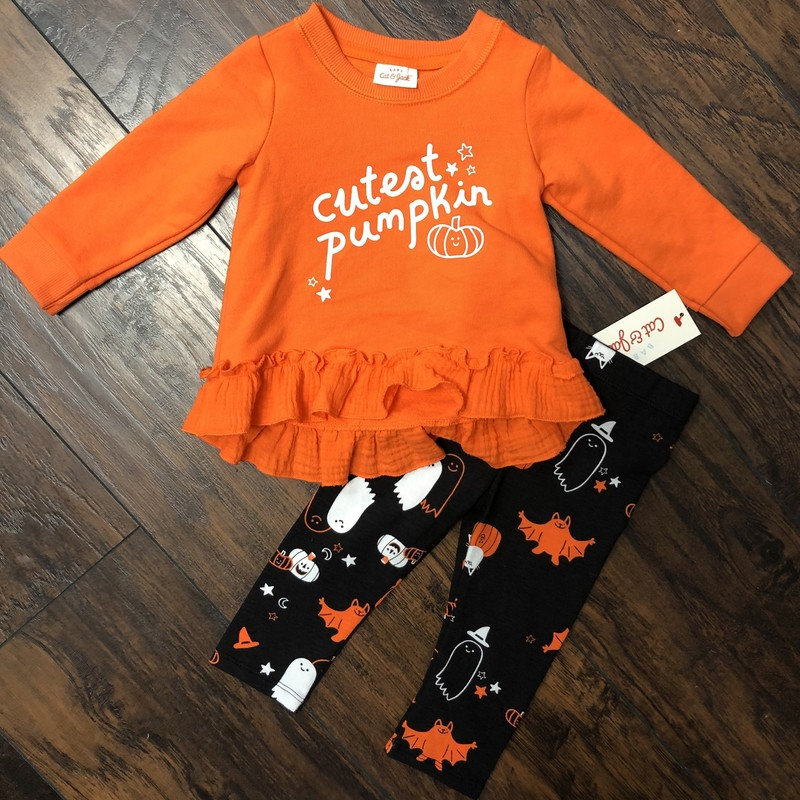 Cat & Jack Halloween, Orange, Size: 6/9M