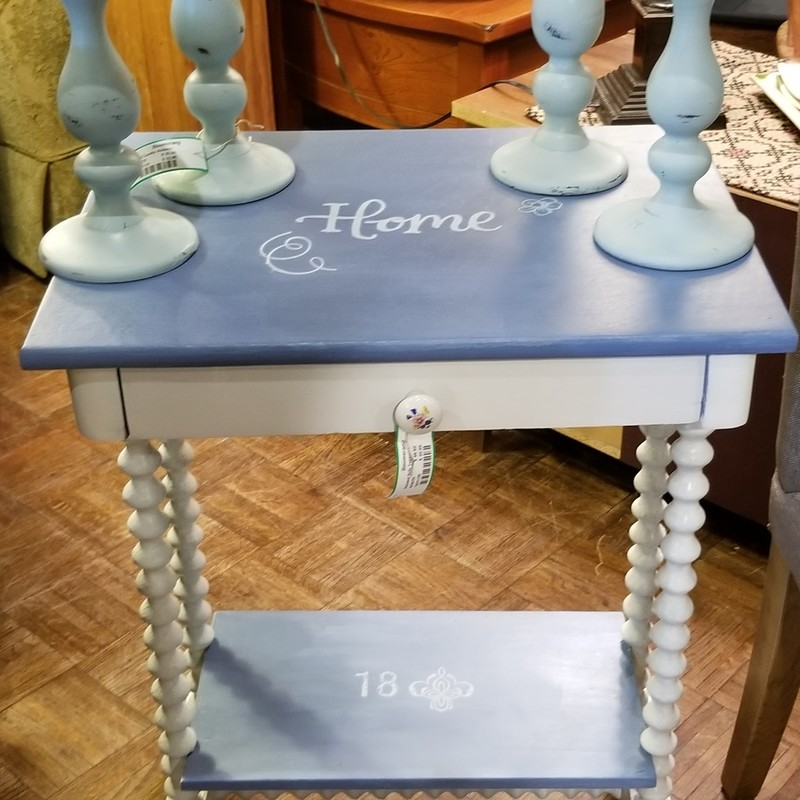 Hand Painted Side Table, Size: 21 X 24 X 16