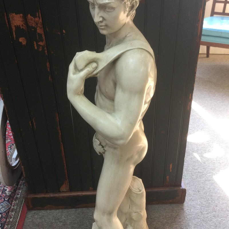"David Statue stands at 44"" tall. replica reproduction"