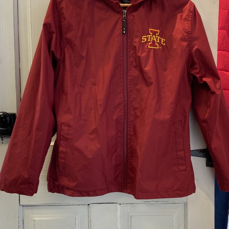 Red ISU Nylon Jacket.