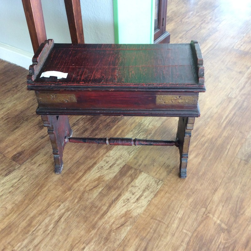 The consignor called this little cutie an organ bench, but we think it may be a prayer bench. Either way, it is the perfect size for both. The seat lifts to reveal storage for your sheet music or your bible. ONLY $145!